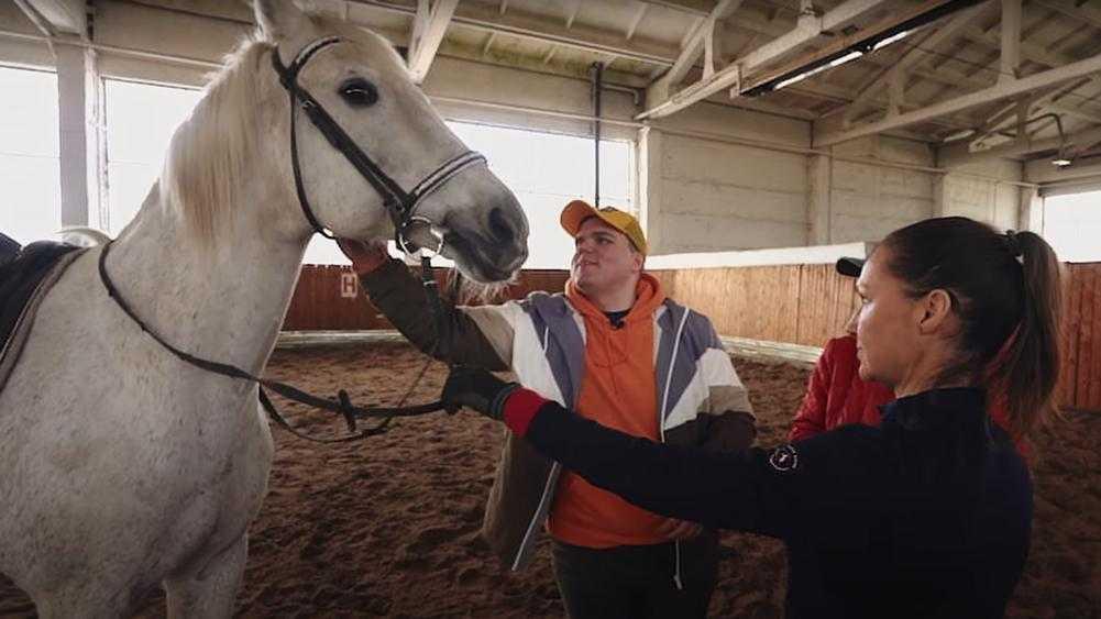 Слепой путешественник проехал верхом на лошади Локотского конезавода