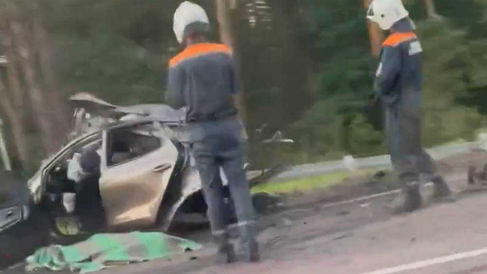 Появилось новое видео с места разорванного на части автомобиля под Брянском