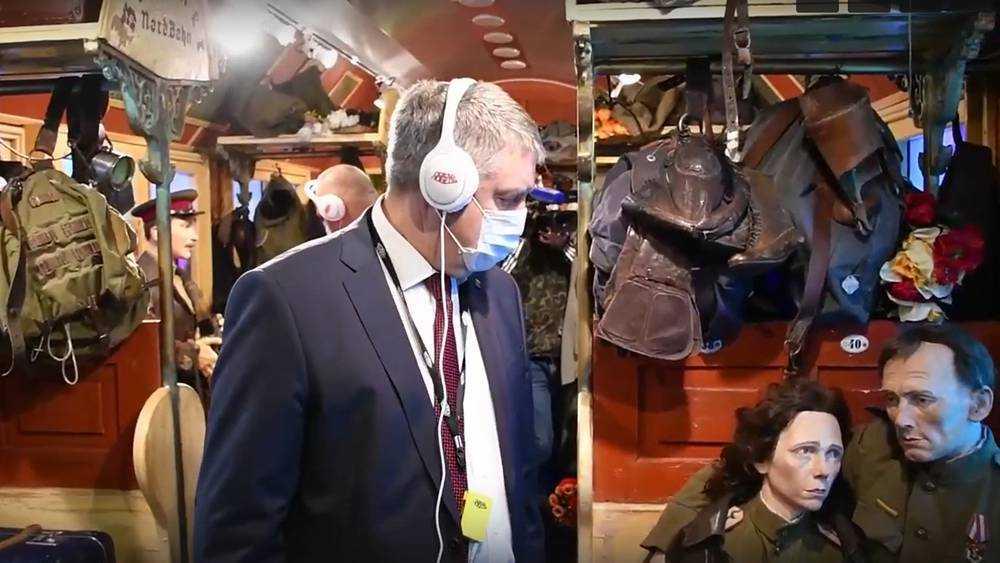 В Брянск прибыл «Поезд Победы», где собрана вся история войны