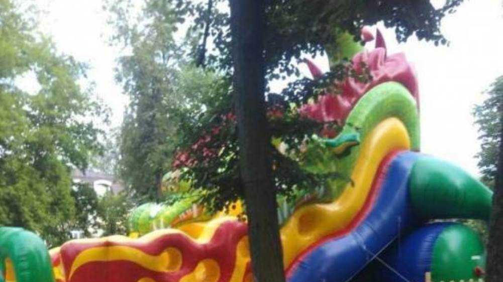 В Майском парке Брянска мальчик упал с батута и сломал ногу