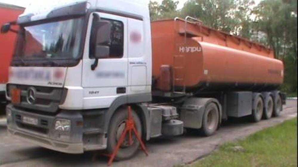 В Брянске задержали водителя перевозившего опасный груз бензовоза
