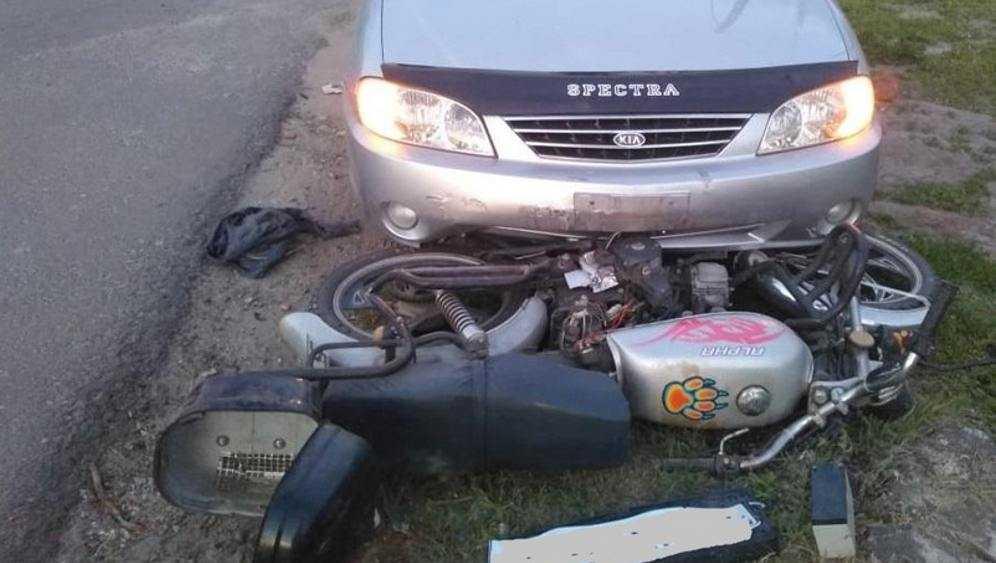 В Выгоничах в ДТП пострадали водитель мопеда и его 5-летний пассажир