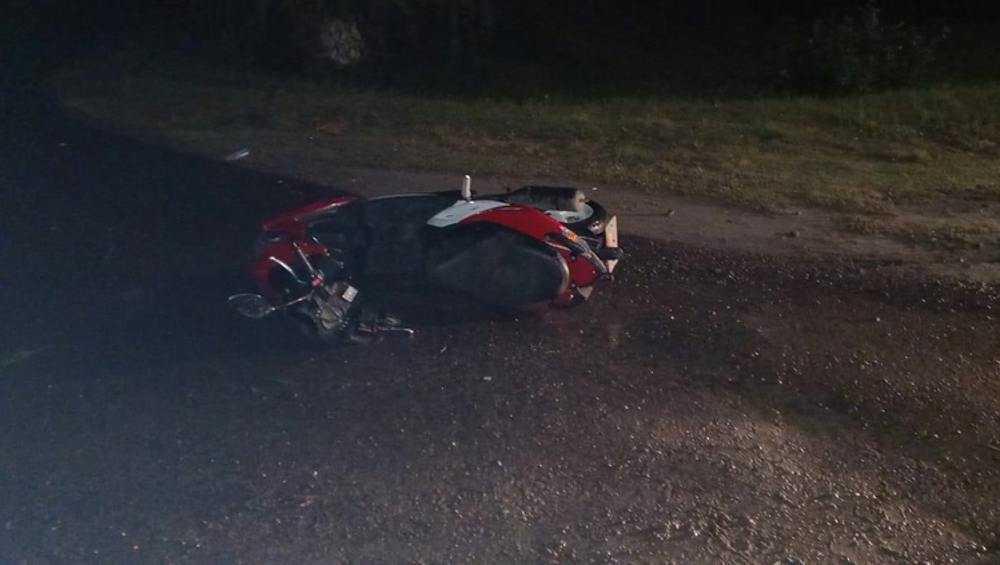 В Климове разбился на мопеде пьяный мужчина без водительских прав