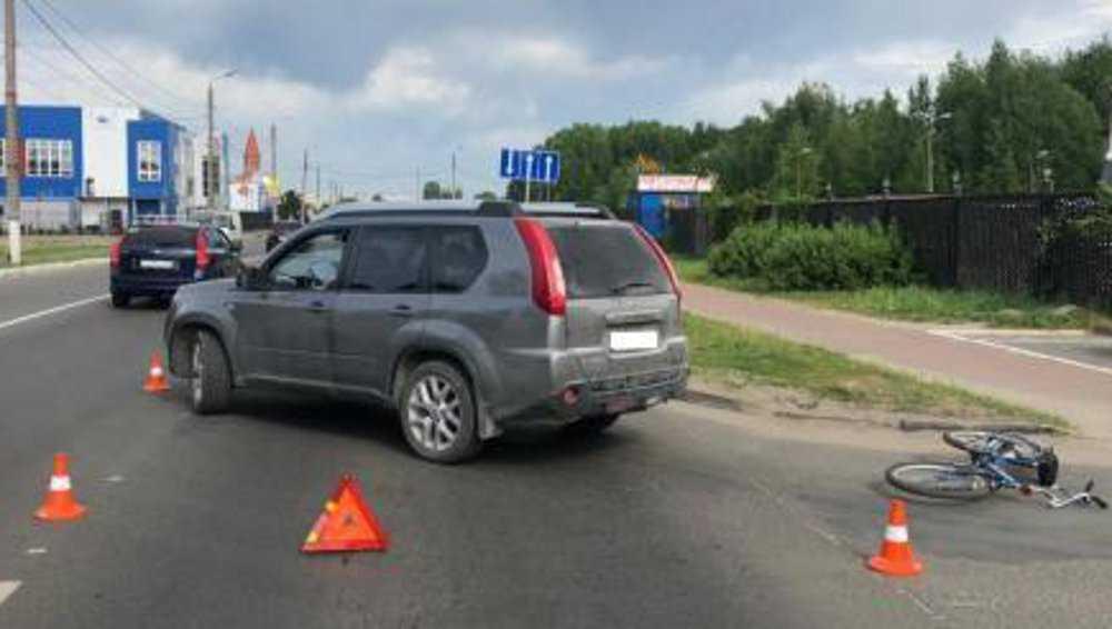 В Брянске водитель кроссовера сбил 9-летнего мальчика с велосипедом