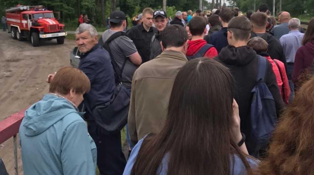Из-за угрозы взрыва в Сельцо эвакуировали пассажиров электрички