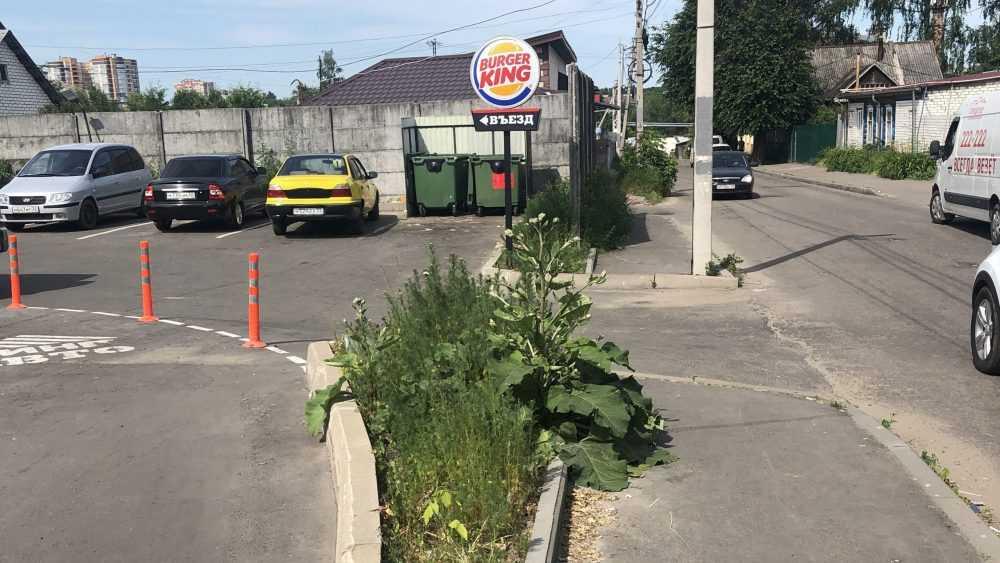 В Брянске после жалобы горожан убрали мусор возле кафе Burger King