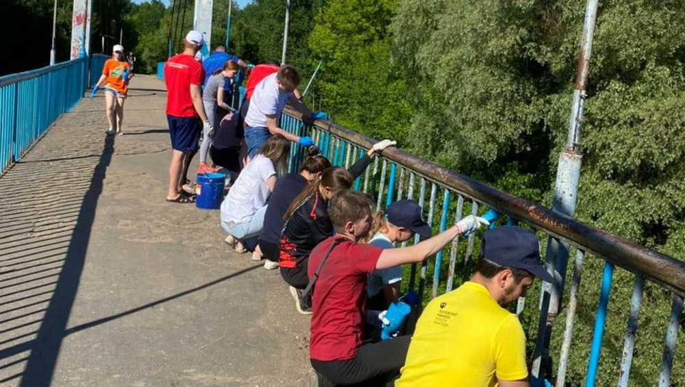 Неравнодушные молодые брянцы покрасили Голубой мост в «Соловьях»