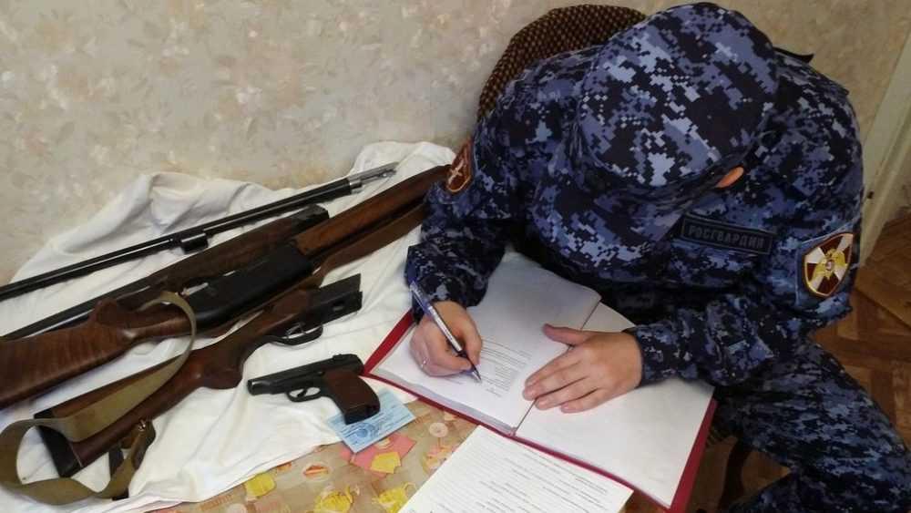 Брянские росгвардейцы изъяли из оборота 10 единиц оружия
