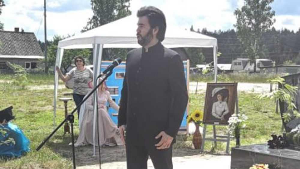 В брянском Алтухове установили памятный знак в честь певицы Вяльцевой