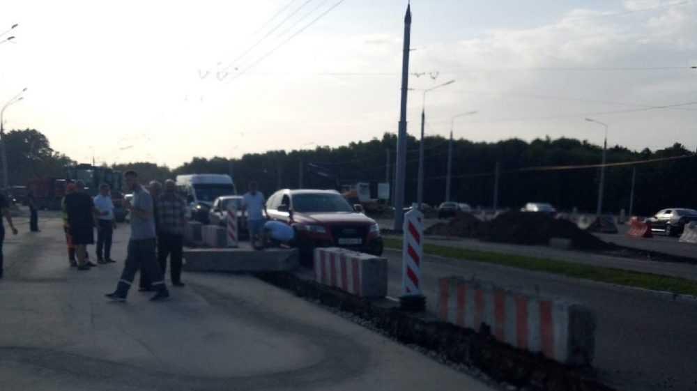 В Фокинском районе Брянска произошло ДТП на единственной полосе