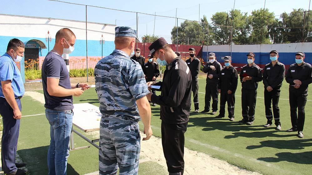 В ИК-5 выбрали лучший отряд и вручили осужденным знаки отличия Г