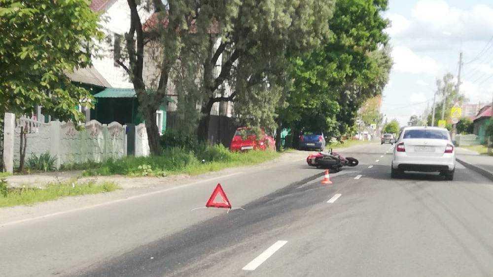 В Брянске на улице Красный маяк произошло ДТП с участием мотоциклист