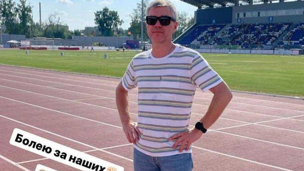 Депутат Госдумы Евгений Ревенко провел тренировку на новом стадионе в Брянске