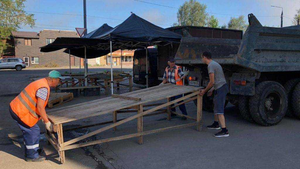 В Бежицком районе Брянска на Северной снесли нелегальный рынок