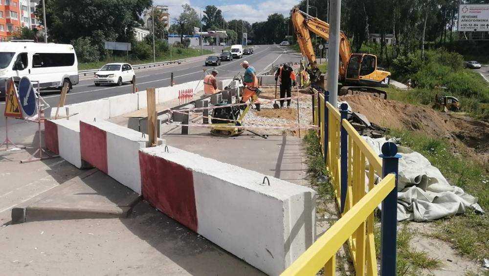 В Брянске размытую дамбу на Смоленском шоссе восстановят на следующей неделе