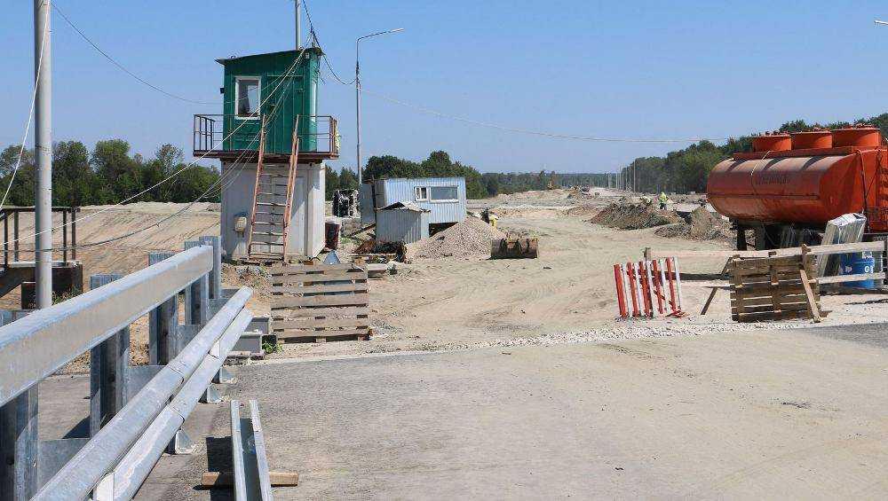 Губернатор Богомаз проинспектировал стройку дороги Брянск-I  Брянск-II
