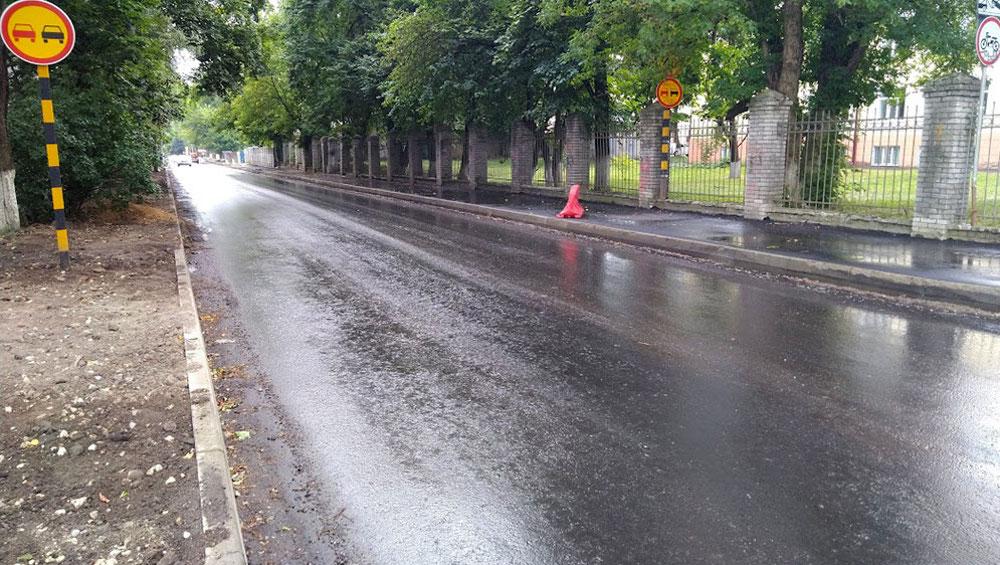 В Брянске на улице Горького из-за ремонта дороги на сутки ограничат движение