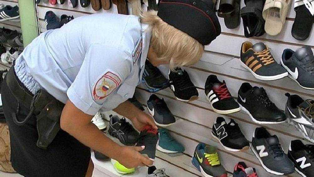 В Брянске оштрафовали торговца контрафактными кроссовками