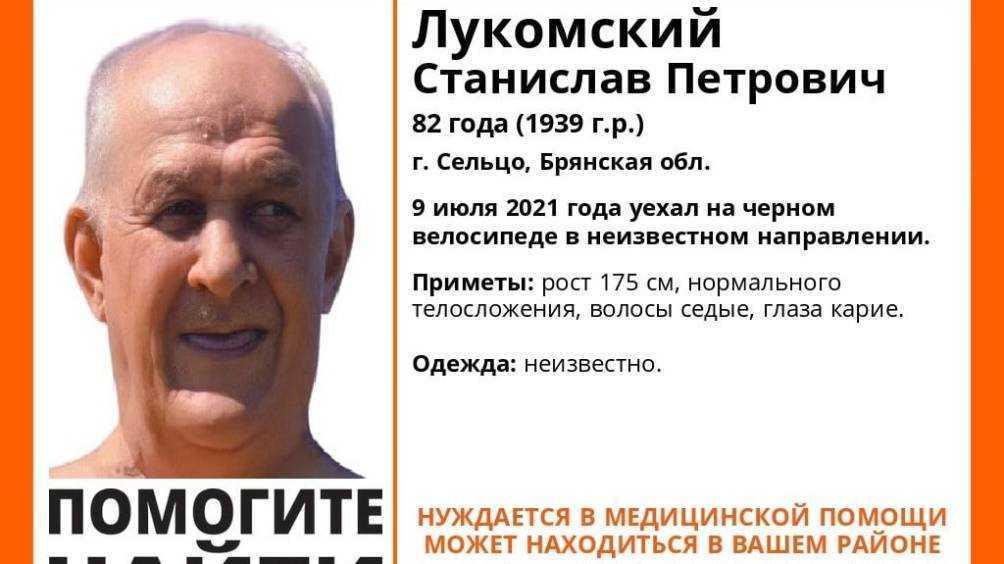 Пропавшего 9 июля в Сельцо 82-летнего велосипедиста до сих пор не нашли