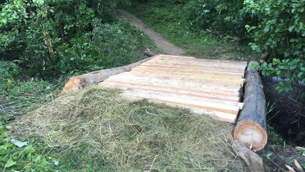 Брянские волонтеры отремонтировали два мостика в роще «Соловьи»