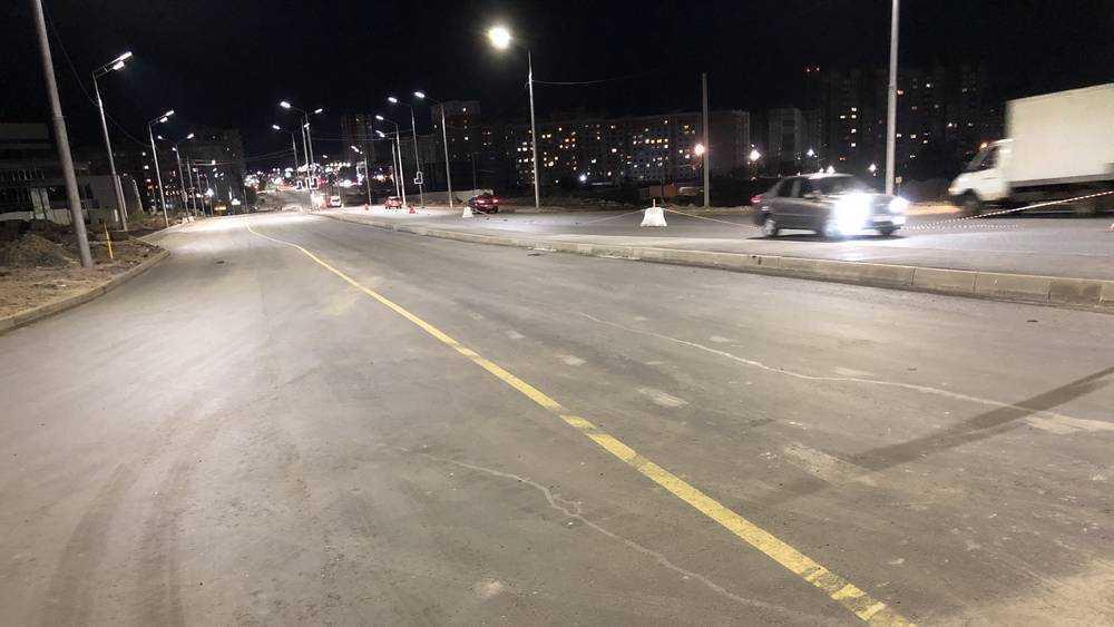 В Брянске движение по Объездной улице перевели на другую половину дороги