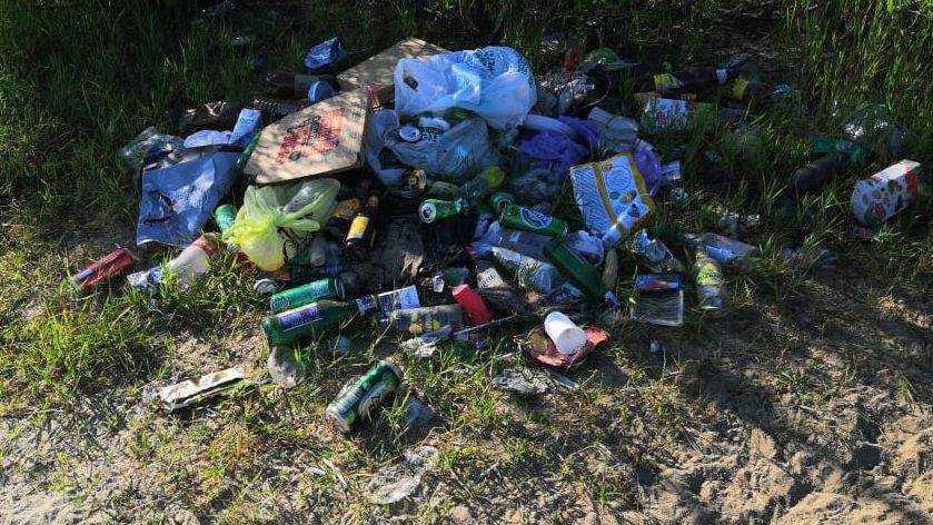 В Брянске пляж озера Орлик местные жители превратили в свалку