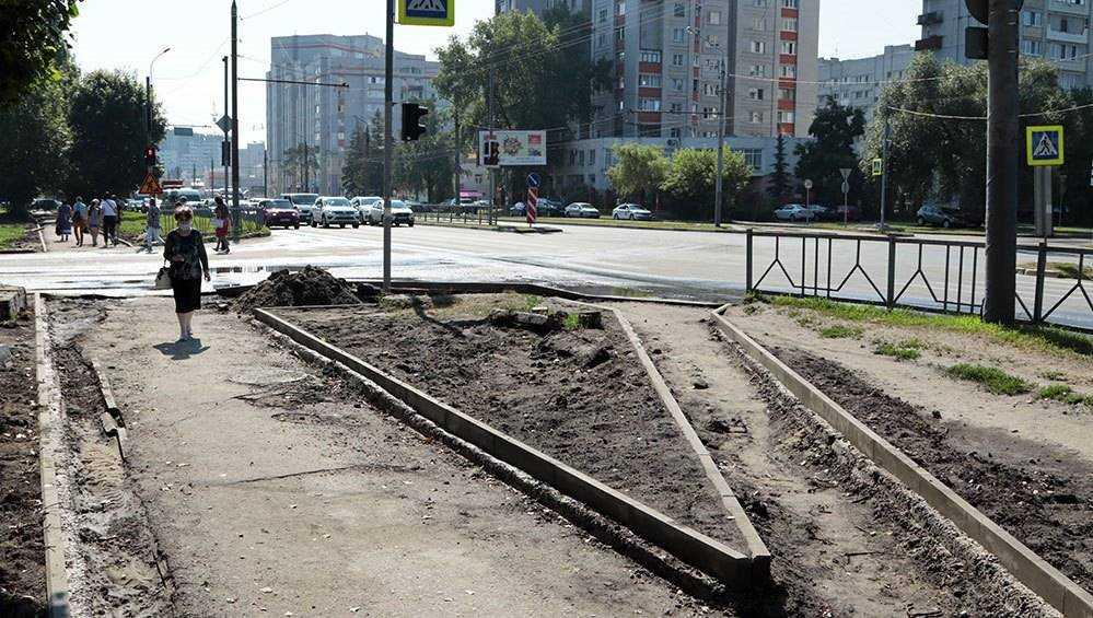 В Брянске на проспекте Московском построят тротуары и заменят фонари