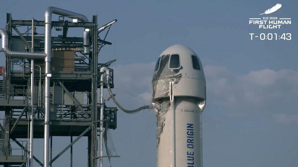 Корабль New Shepard с бывшим главой Amazon Джеффом Безосом слетал в космос