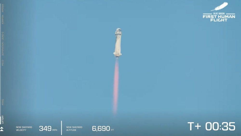 Корабль New Shepard с бывшим главой Amazon Джеффом Безосом отправился в космос