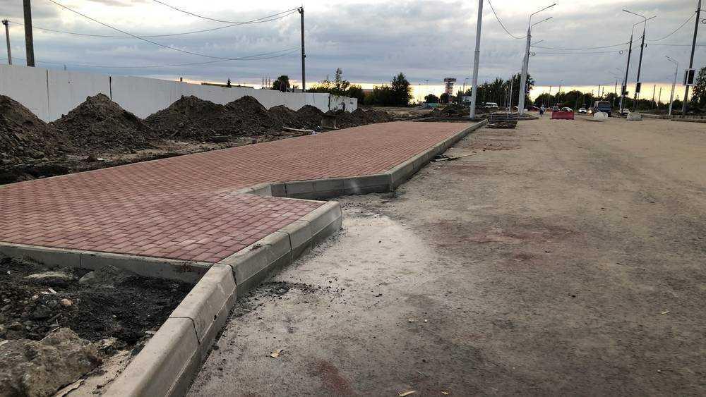 В Брянске на Объездной улице построили площадку для первой остановки