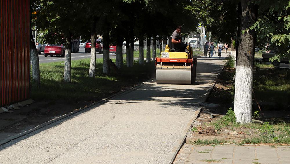 В Брянске на проспекте Московском будут асфальтировать тротуары