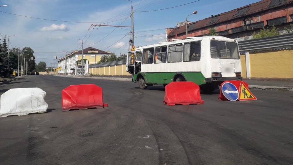 В Брянске на улице Ульянова перекрыли дорогу возле проходных БМЗ