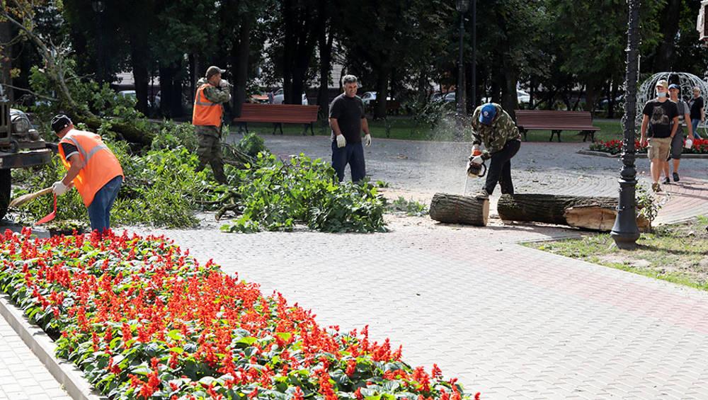 В Брянске оперативные службы продолжили устранять последствия ливня