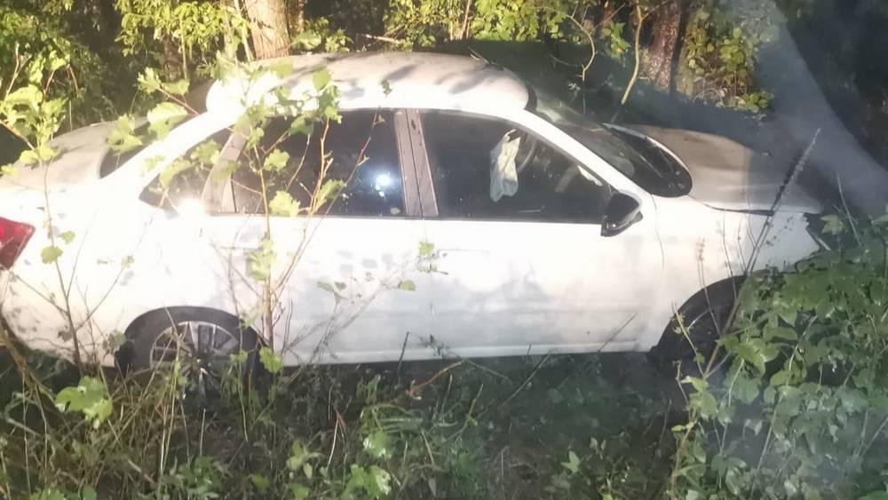 В Брянской области трезвая 29-летняя автомобилистка врезалась в дерево