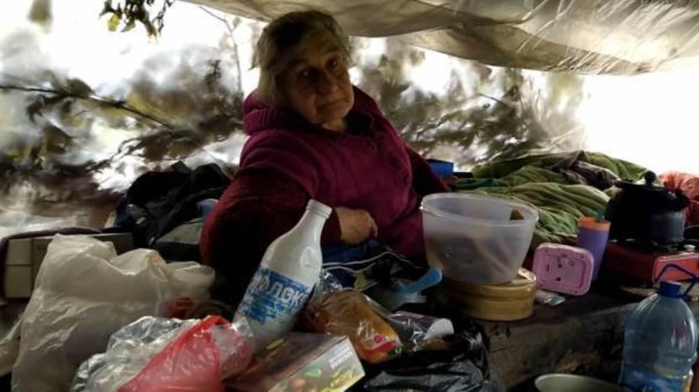 В Брянске под мостом у новой дороги в шалаше прижилась семья бездомных