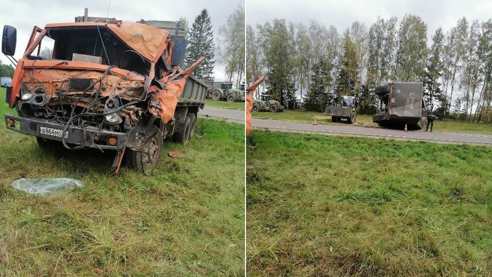 В Климовском районе Брянской области в ДТП перевернулся грузовик