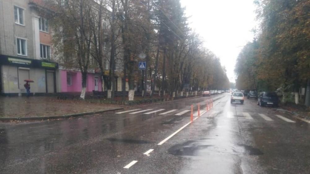 В Брянске на месте ДТП с пешеходом установили дорожные делиниаторы