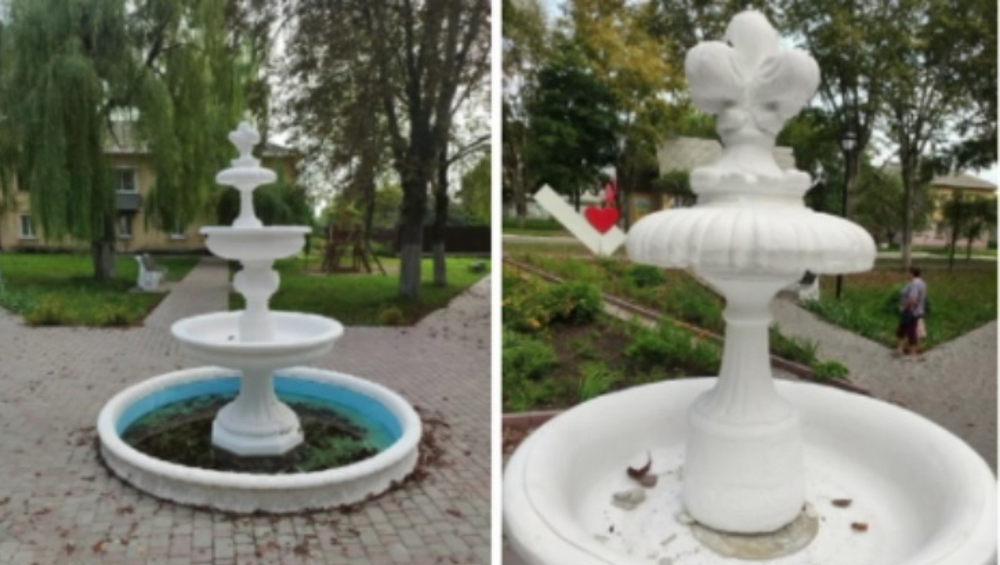 В Фокино повредившие фонтан подростки-вандалы попали на видео
