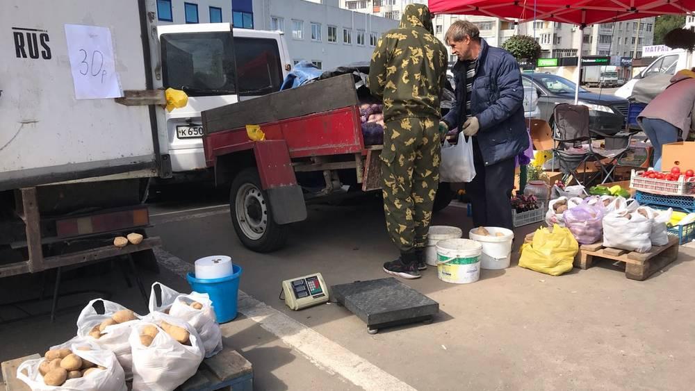 В Брянске на ярмарке цена картофеля оказалась в полтора раза ниже рыночной