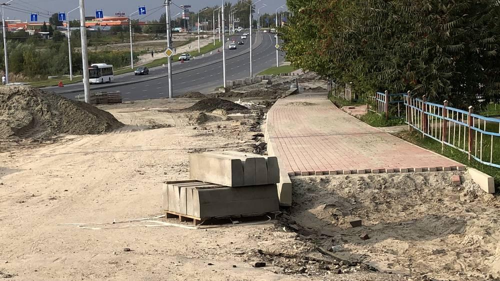 В Брянске новый тротуар от Дворца единоборств протянули до Авиационной
