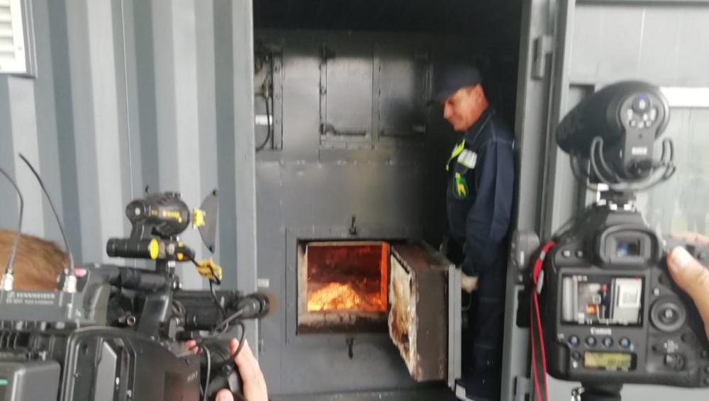 На заводе в Почепе Брянской области впервые сожгли одну тонну кокаина