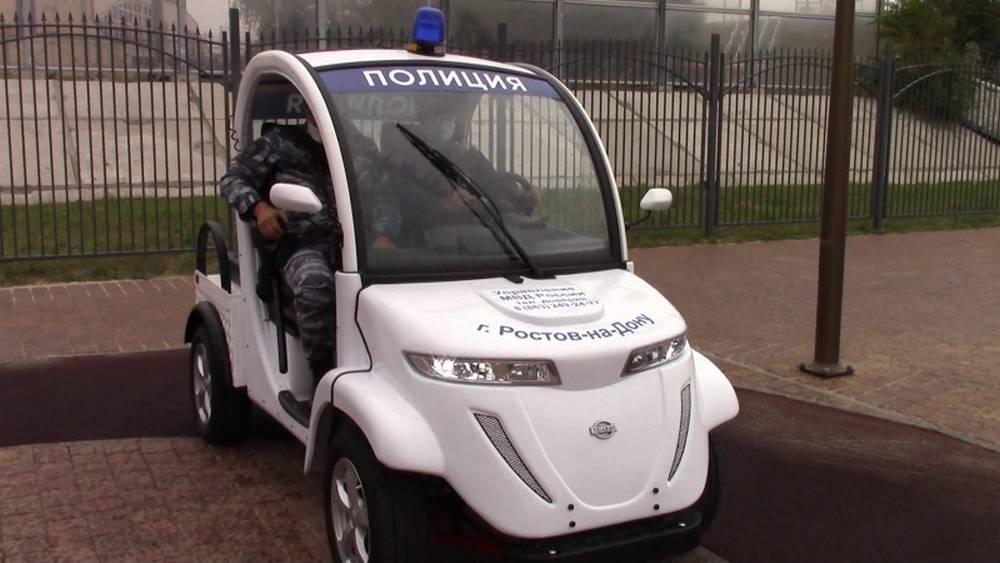 Полицейские пересели на тихоходные электромобили