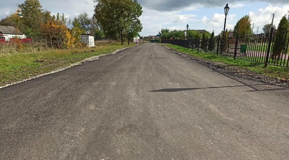 В Отрадном под Брянском обновили центральную дорогу