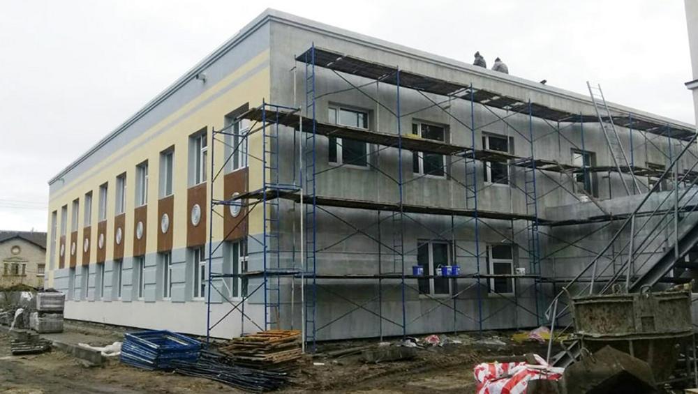 В брянской школе искусств № 3 начали отделку фасада