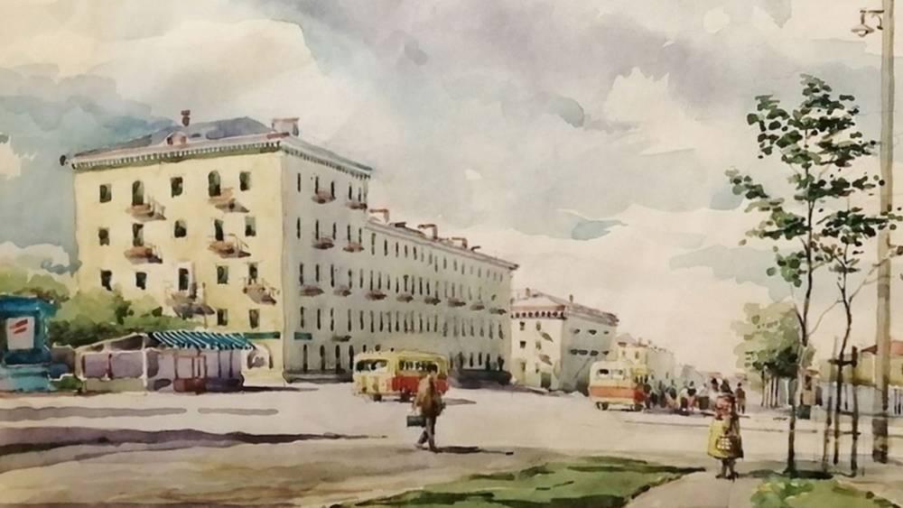 Жителям Брянска предложили вспомнить историю города по рисунку 1957 года