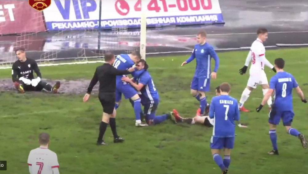 Брянские динамовцы уверенно переиграли белгородский «Салют» со счетом 3:0