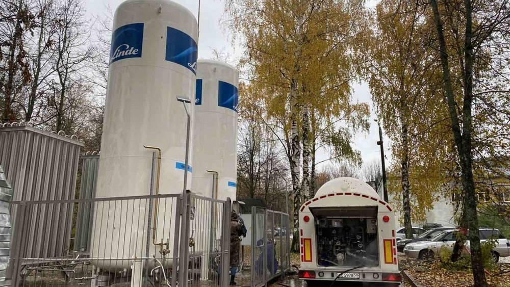В брянский коронавирусный госпиталь больницы №4 доставили кислород