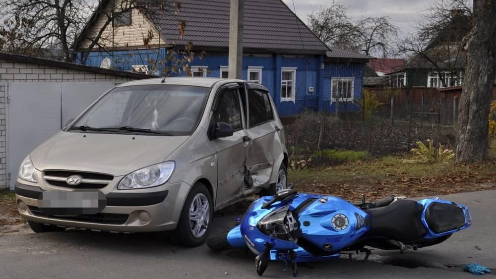 В Жуковке Брянской области насмерть разбился 35-летний байкер