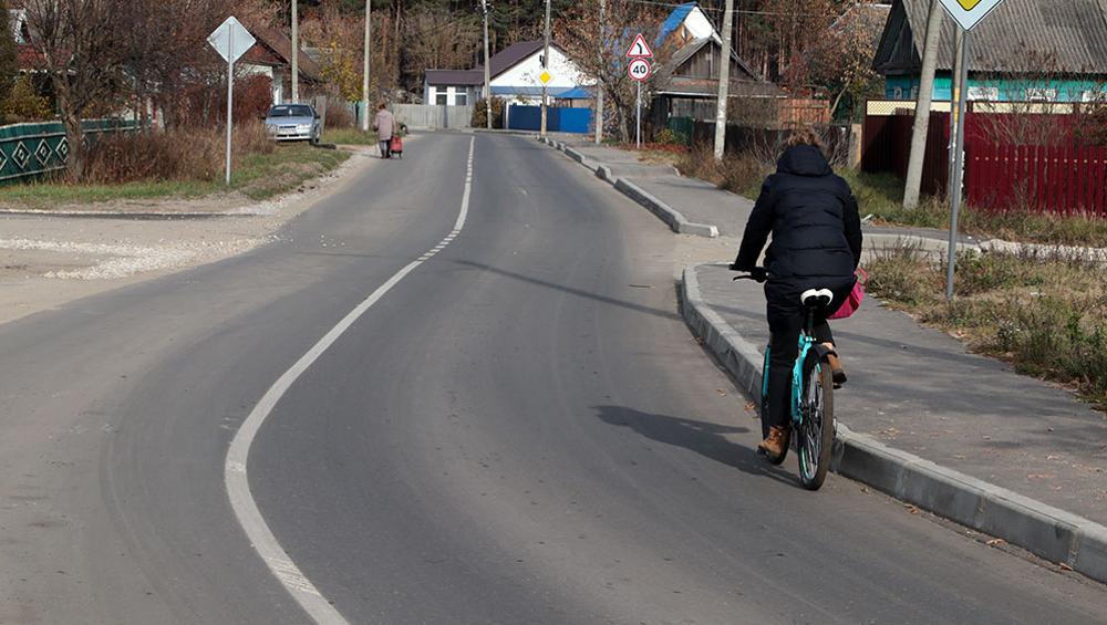Под Брянском отремонтировали дороги на улицах Вокзальной и Снежетьской