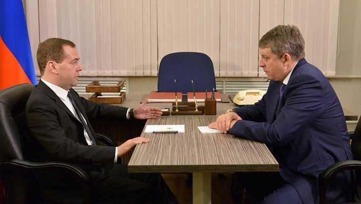 Глава правительства Медведев пригласил брянского губернатора Богомаза